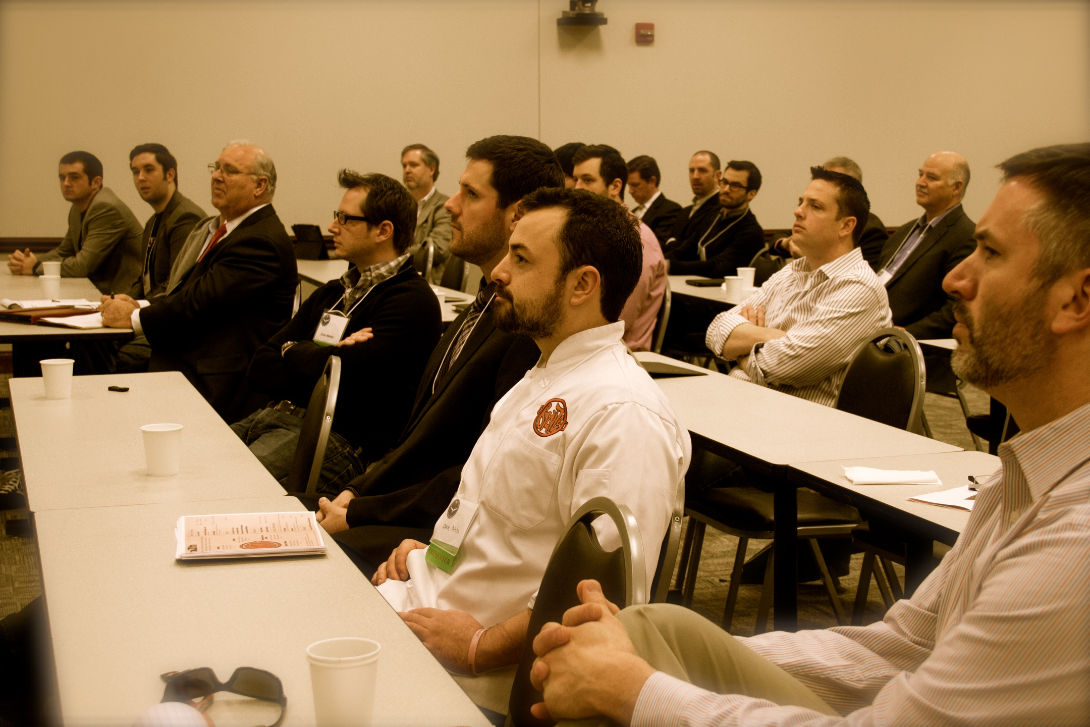 Bloomington Normal Angel Investor Network 2014 Q1 shot of the crowd